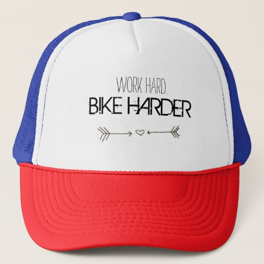 Casquette work hard. BIKE HARDER
