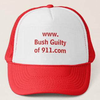 Casquette WWW. Bush Guiltyof 911.com