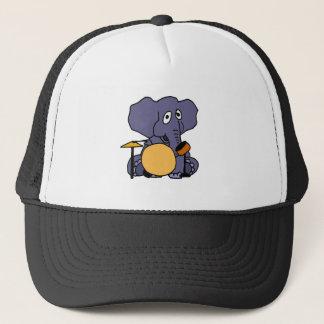 Casquette XX éléphant jouant des tambours