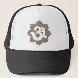 Casquette Yoga OM dans le gris brun de Lotus