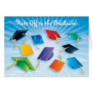 Casquettes au diplômé ! carte de vœux