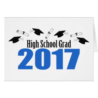Casquettes et diplômes du diplômé 2017 de lycée cartes
