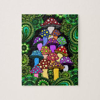 Casse-tête colorée de champignons puzzle