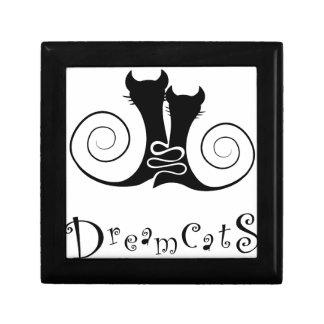Casseminia - dreamcats avec le texte petite boîte à bijoux carrée