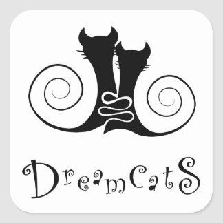 Casseminia - dreamcats avec le texte sticker carré