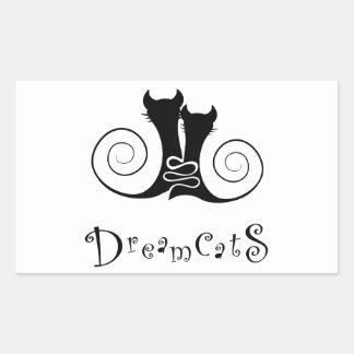 Casseminia - dreamcats avec le texte sticker rectangulaire
