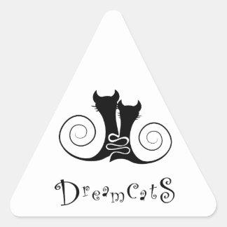 Casseminia - dreamcats avec le texte sticker triangulaire