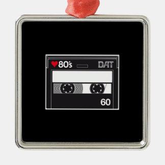 Cassette 80 ' s Custom Love Edition Ornement Carré Argenté