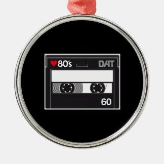 Cassette 80 ' s Custom Love Edition Ornement Rond Argenté