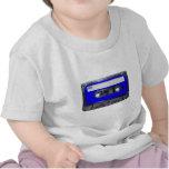 Cassette bleue d'étiquette des années 80 vintages t-shirts