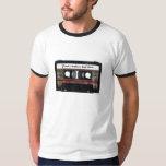 Cassette de vieille école avec le texte t-shirt