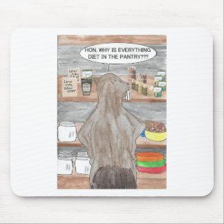 Castor affamé tapis de souris