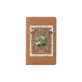 Castor - couverture de velours de coton de carnet