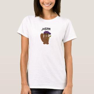 Castor de bande dessinée de Justin T-shirt