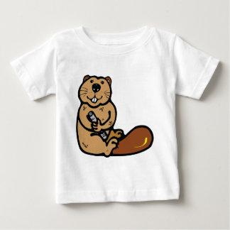 Castor de bande dessinée pour le jour t-shirt pour bébé