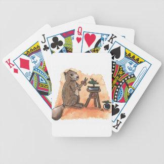 Castor de bonsaïs cartes à jouer