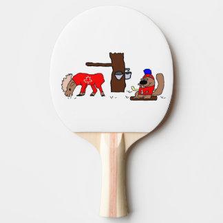Castor de sirop d'orignaux du Canada Raquette Tennis De Table
