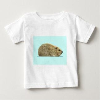 Castor eurasien t-shirt pour bébé