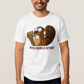 Castor grossier drôle t-shirts