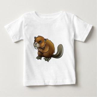 Castor mignon t-shirt pour bébé