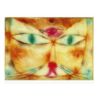 Cat and Bird - Paul Klee Cartes Postales