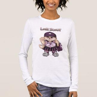 CAT GRIL Bella de SCOUT+T-shirt de LongSleeve de T-shirt À Manches Longues