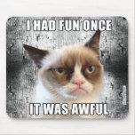 Cat™ grincheux Mousepad - j'ai eu l'amusement par  Tapis De Souris