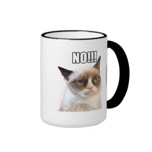Cat™ grincheux NON ! ! ! Tasse
