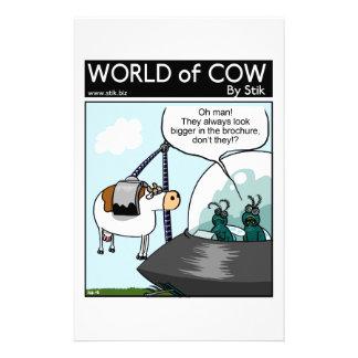 Catalogues de vache papier à lettre personnalisable