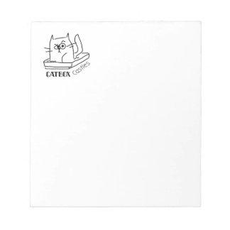 Catbox se retranche le bloc - notes (petit) blocs notes