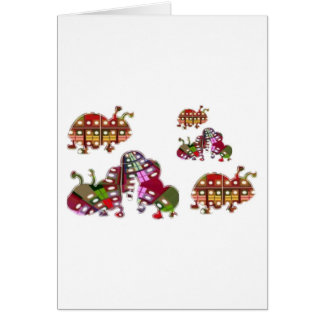 Caterpillar et Madame Bug Graphic de coccinelle Cartes