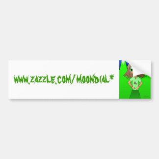 CatGirl, www.zazzle.com/moondial* Autocollant De Voiture