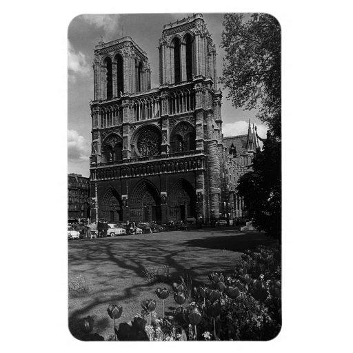 Cathédrale 1970 de la France Paris Notre Dame Magnets Souples