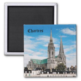 Cathédrale de Chartres Magnet Carré