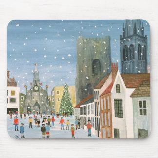 Cathédrale de Chichester une scène de neige Tapis De Souris