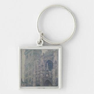 Cathédrale de Claude Monet | Rouen, à l'ouest Porte-clé Carré Argenté