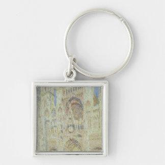 Cathédrale de Claude Monet | Rouen au coucher du Porte-clé Carré Argenté