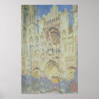 Cathédrale de Claude Monet | Rouen au coucher du Poster