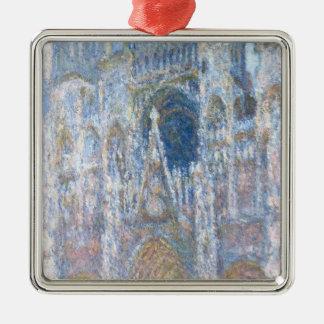 Cathédrale de Claude Monet | Rouen Ornement Carré Argenté