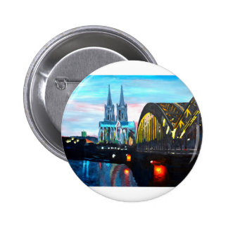 Cathédrale de Cologne avec Hohenzollernbridge Badge
