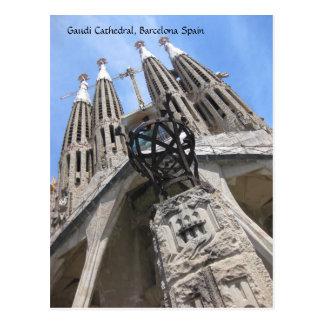 Cathédrale de Gaudi, carte postale de Barcelone