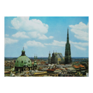 Cathédrale de l'Autriche, Vienne, St Stephen Affiche