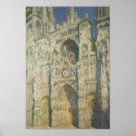 Cathédrale de Rouen à la pleine lumière du soleil Poster