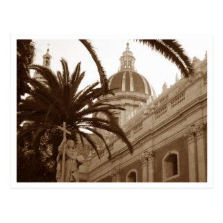 Cathédrale de saint Agata à Catane, Sicile, Italie Carte Postale
