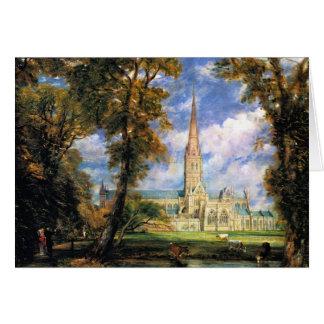 Cathédrale de Salisbury de Grounds de l'évêque Carte De Vœux