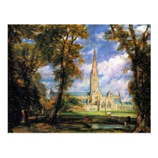 Cathédrale de Salisbury de Grounds de l'évêque Cartes Postales