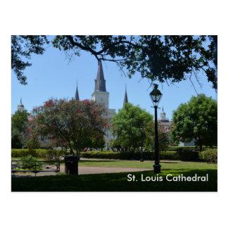 Cathédrale de St Louis dans la carte postale de