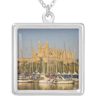 Cathédrale et marina, Palma, Majorque, Espagne 2 Pendentif Carré