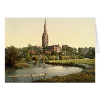 Cathédrale I, WILTSHIRE, Angleterre de Salisbury Carte De Vœux