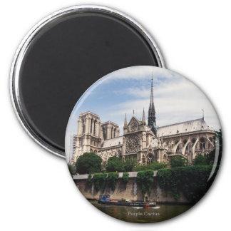 Cathédrale Notre-Dame, Paris Magnet Rond 8 Cm